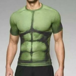 Under Armour Green Muscle Hulk Compression T Shirt